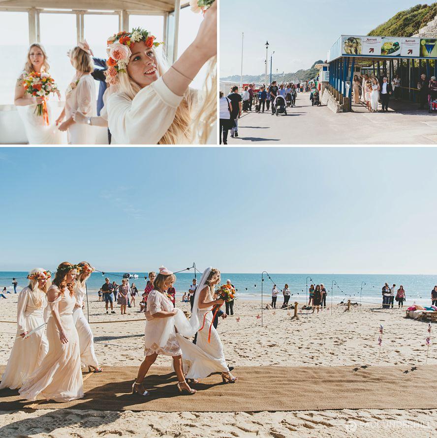 Documentary photography beach wedding