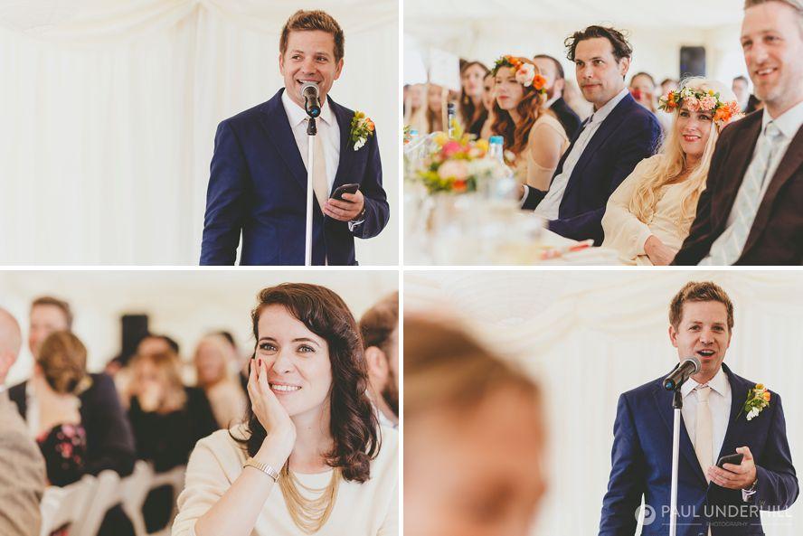 Documentary photography of wedding speeches