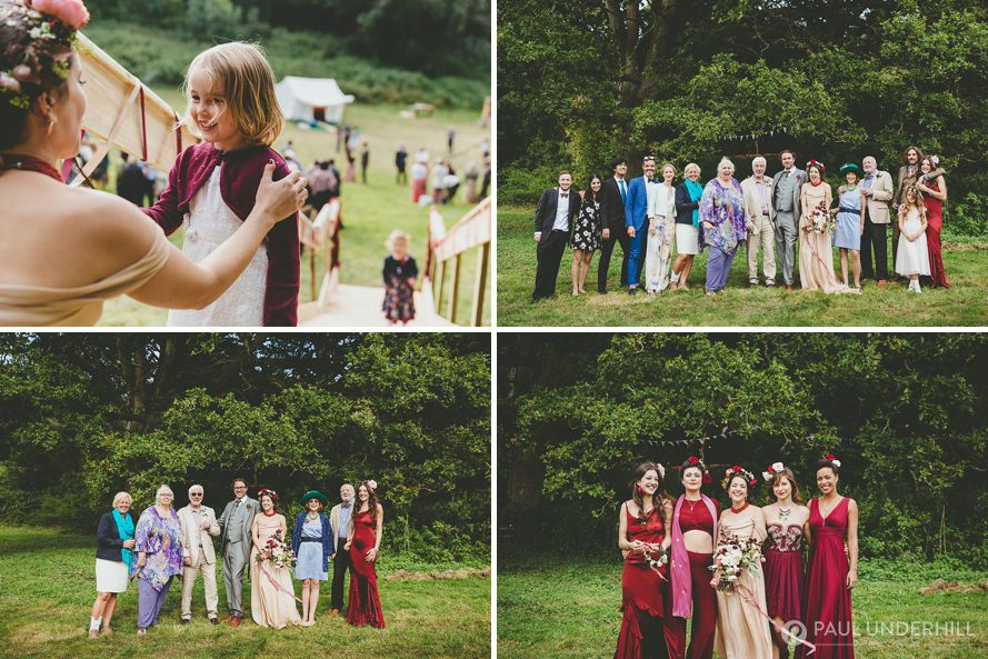 Dorset wedding in a field
