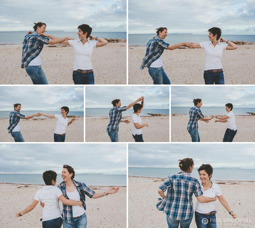 Fun couples portraits on pre wedding shoot
