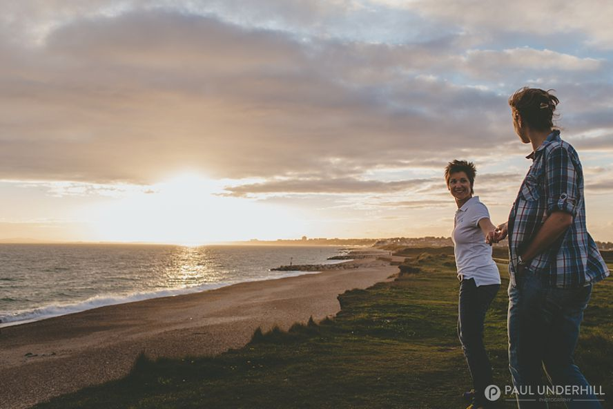 Fun couples shoot on locaiton in Dorset