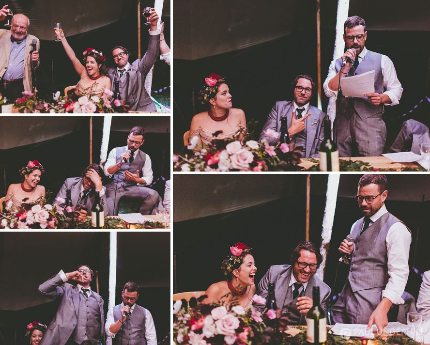 Fun moments captured during speeches