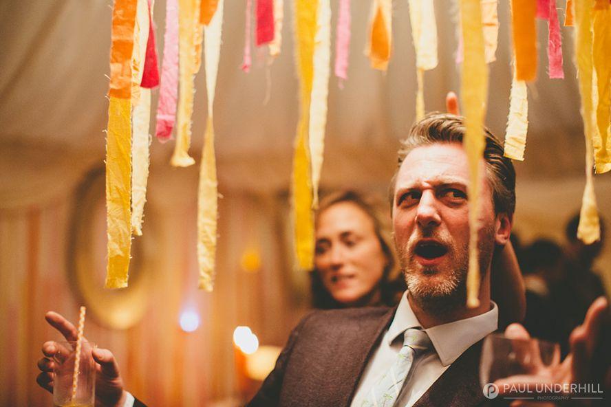 Fun photo of wedding guest
