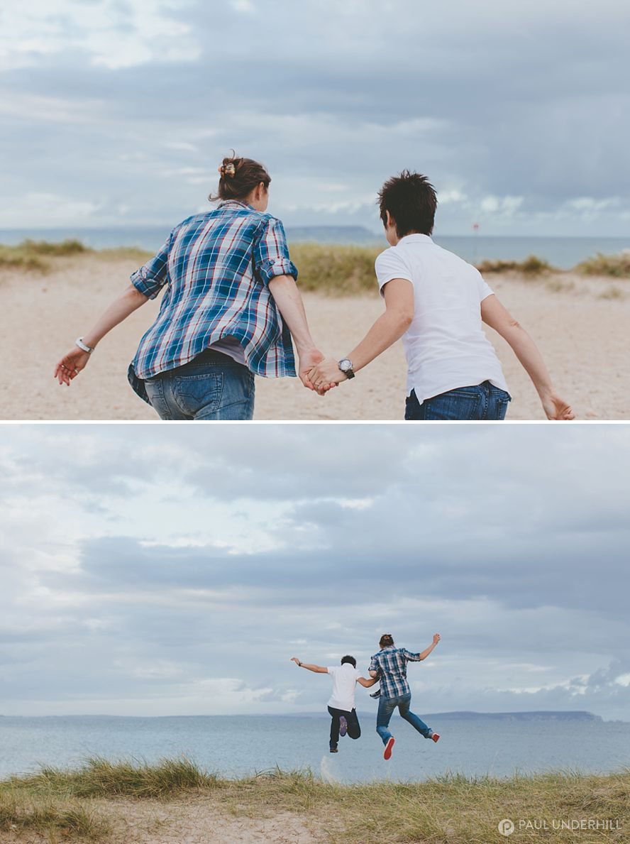 Fun portraits of couples in Dorset