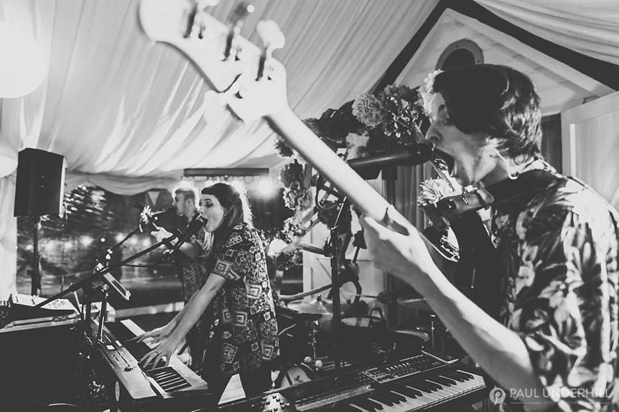 Live band perform at wedding