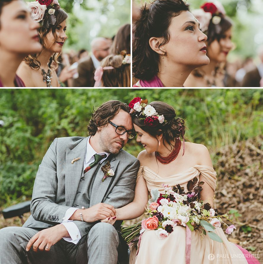 Outdoor festival wedding in Dorset