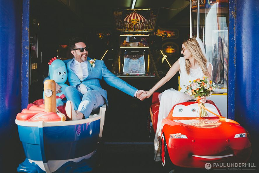 Quirky and fun wedding portrait