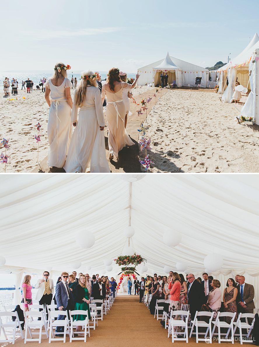 Reportage photography of beach wedding