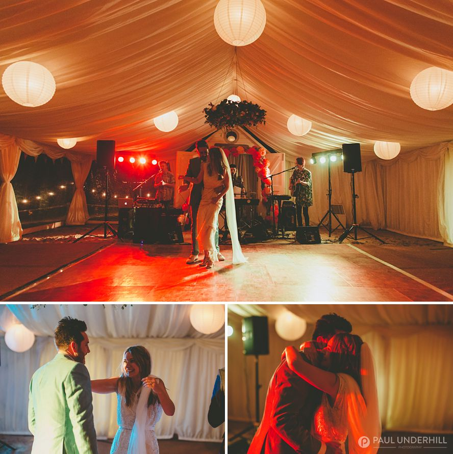 Reportage photography of first dance