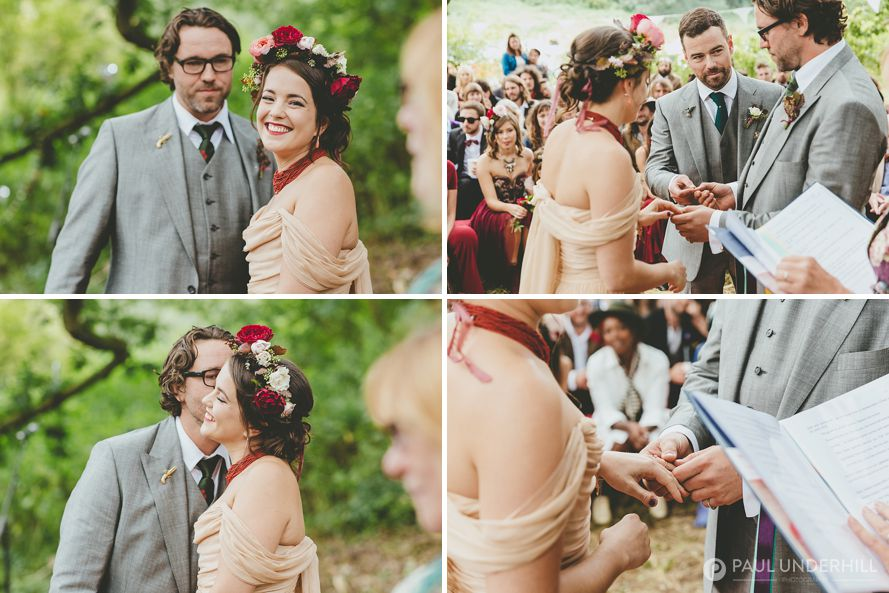 Reportage photography of humanist wedding