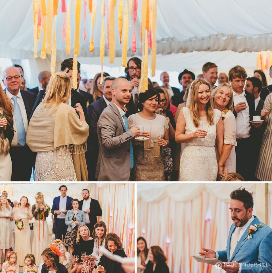 Reportage photography wedding speech