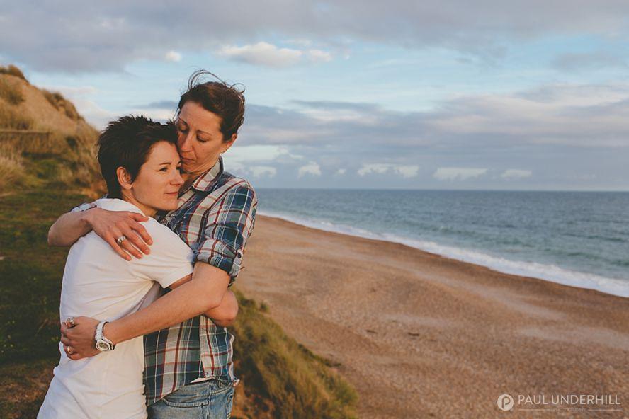 Romantic couples portraits on location in Dorset