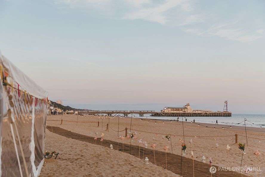 Sunset over Bournemouth pier