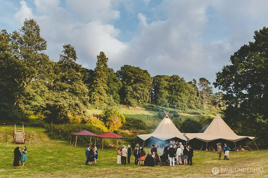 Tipi wedding in Dorset field