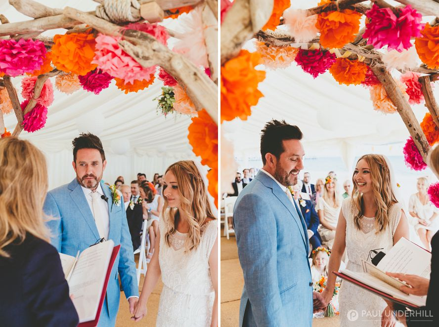 Wedding ceremony on Bournemouth beach