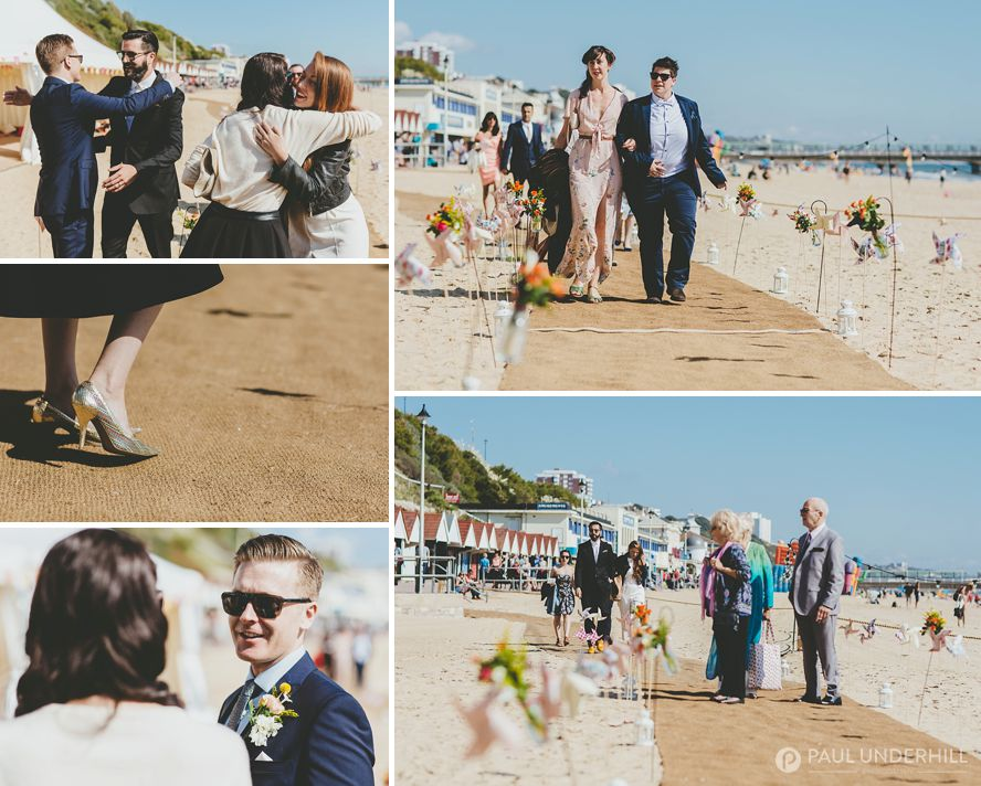 Wedding on Bournemouth beach