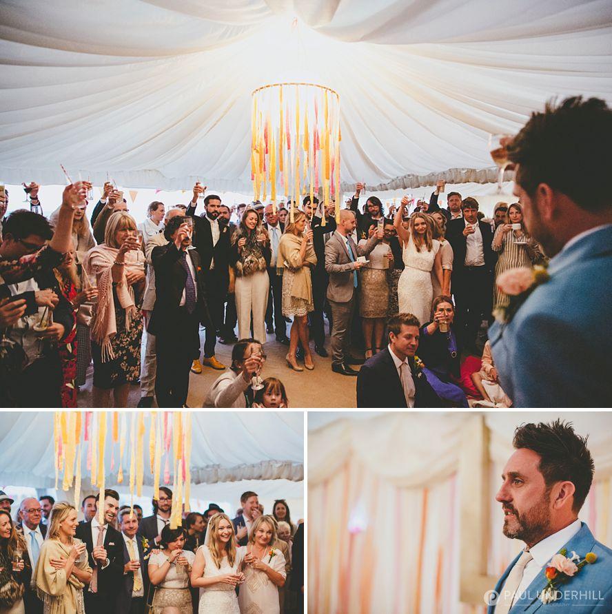 Wedding speech documentary photography