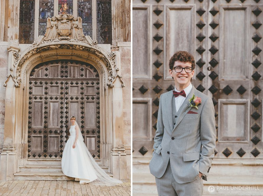 Bride and groom portraits Highcliffe Castle