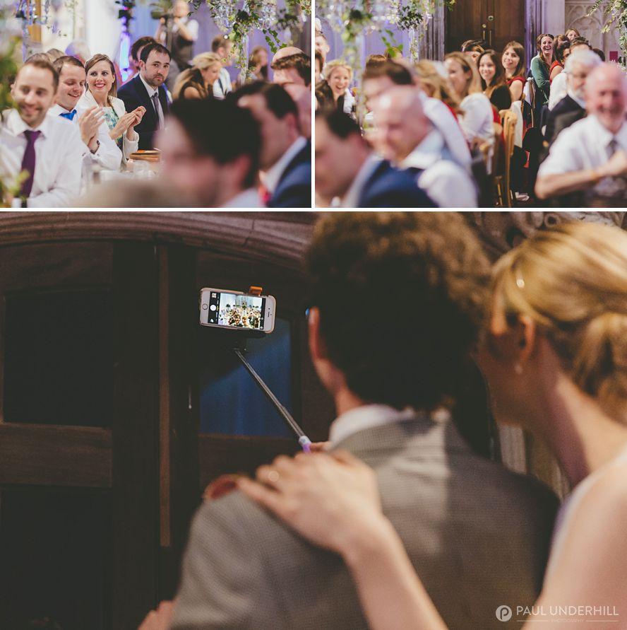 Bride and groom wedding selfie