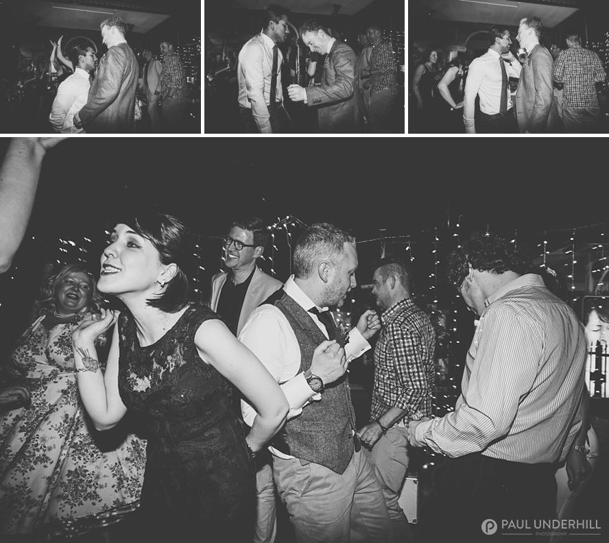 Candid photos of wedding guests