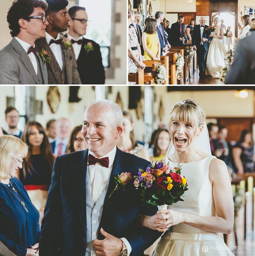 Catholic church wedding Dorset