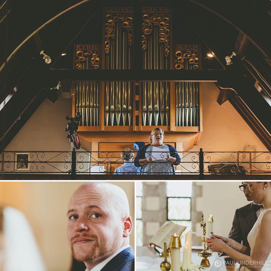 Catholic church wedding singing