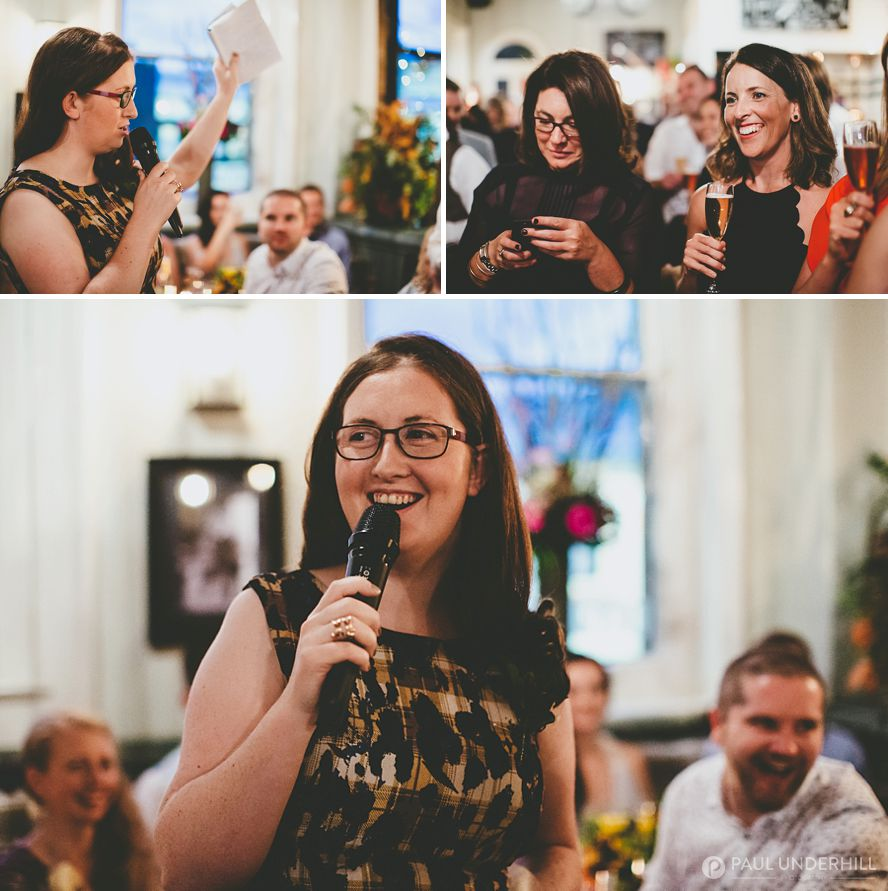 Documentary of wedding speech