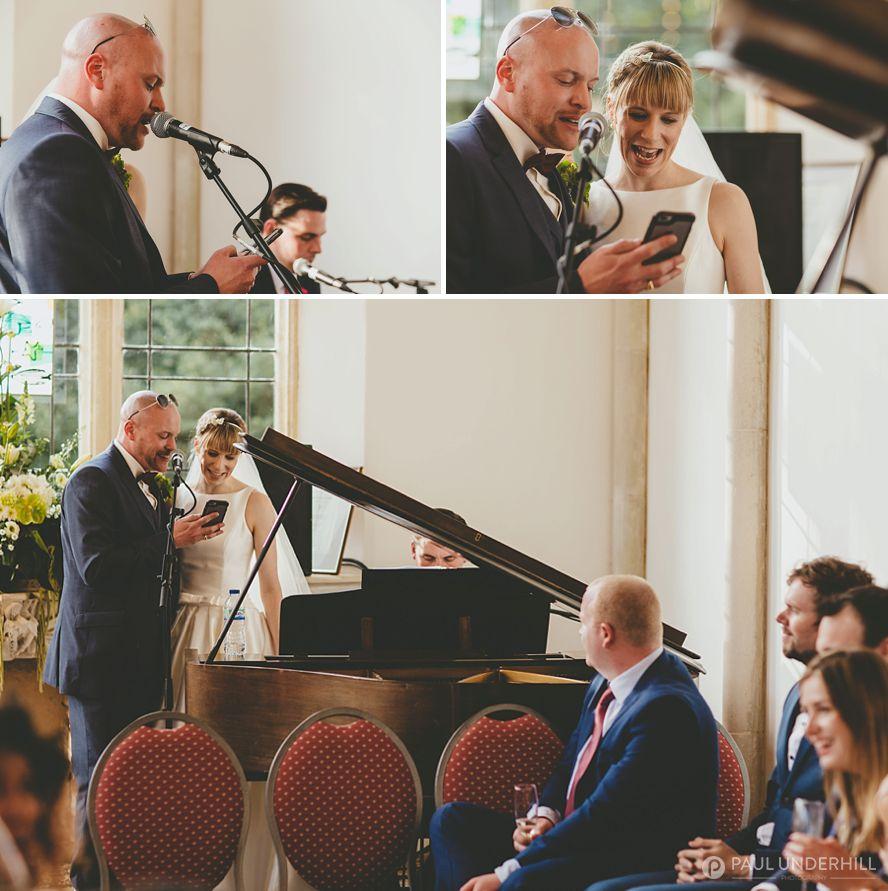 Documentary photography of Dorset wedding