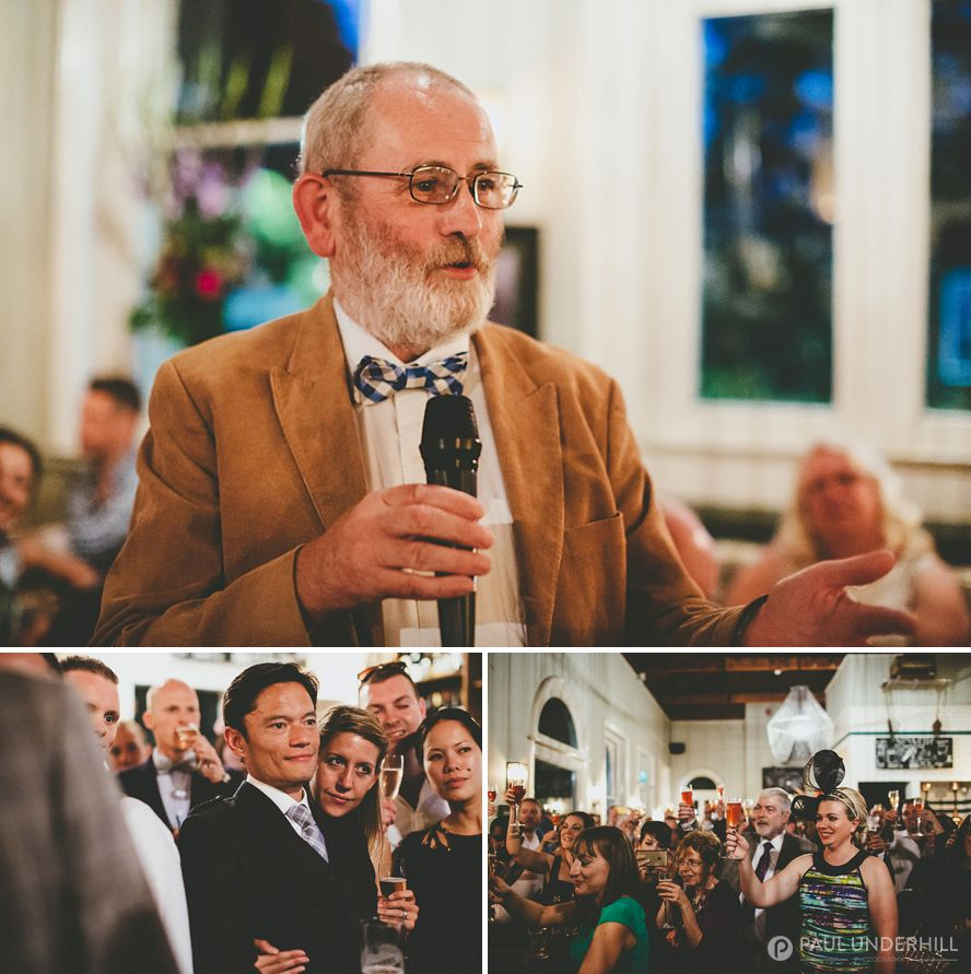 Father of the groom makes speech