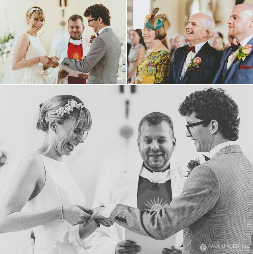 Fun moments Dorset wedding photography