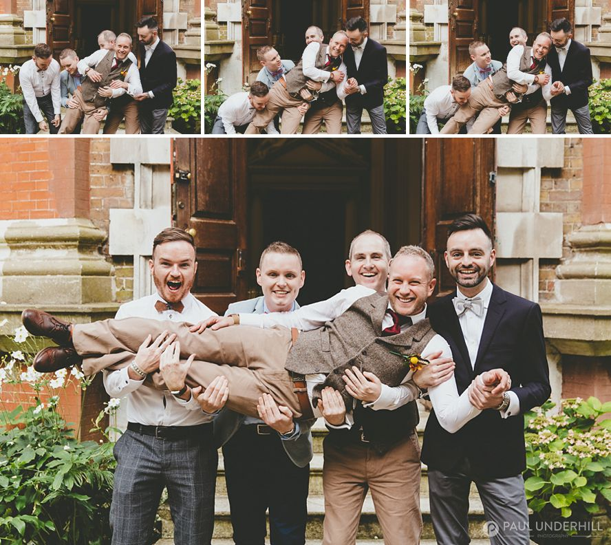Fun wedding group portraits