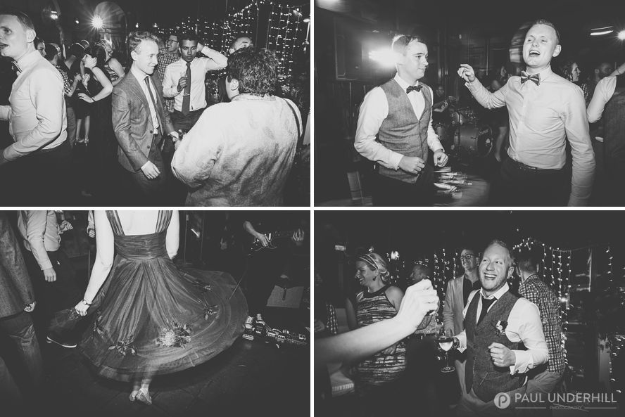 Guests dancing at London wedding