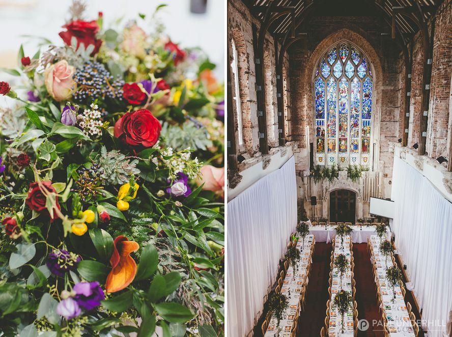 Highcliffe Castle Great Hall wedding reception