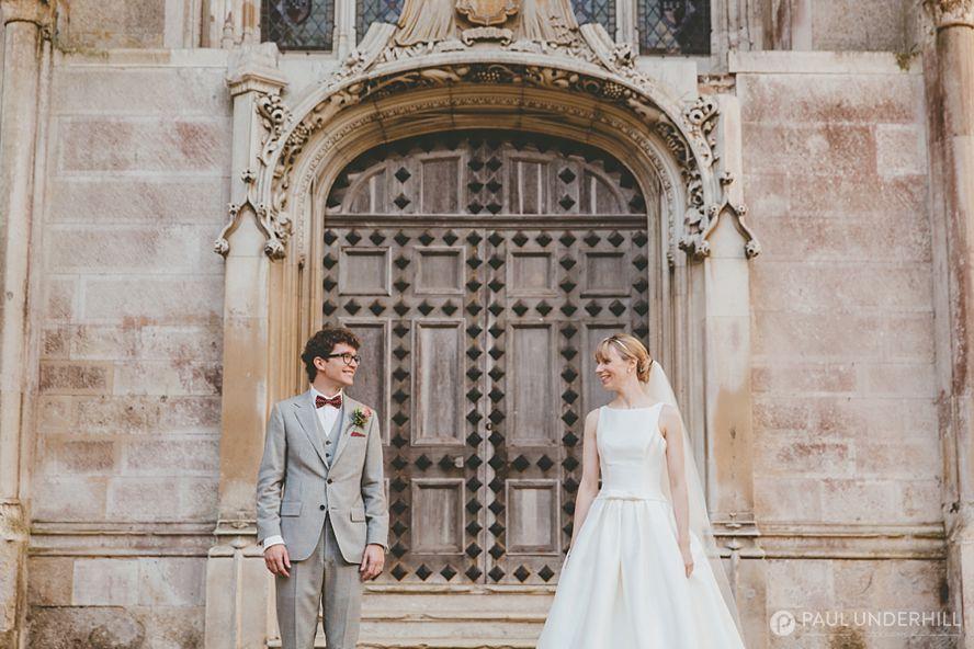 Highcliffe Castle wedding portrait bride and groom
