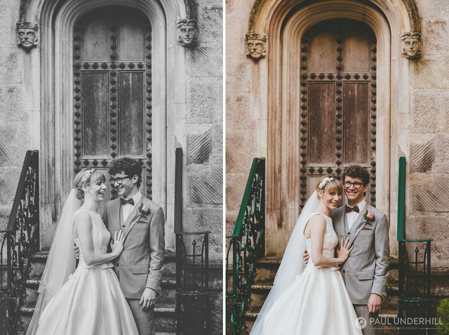 Informal wedding portraits Highcliffe Castle