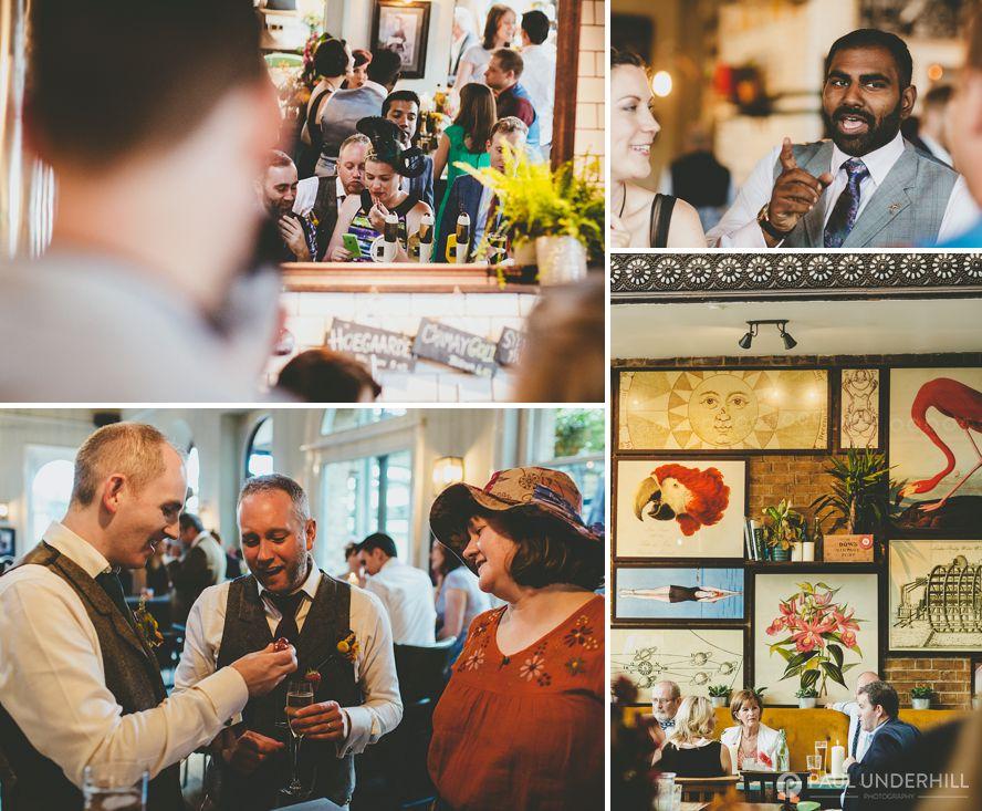 Informal wedding reception London