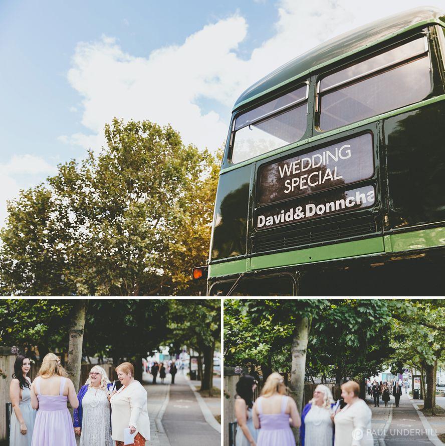 London wedding bus