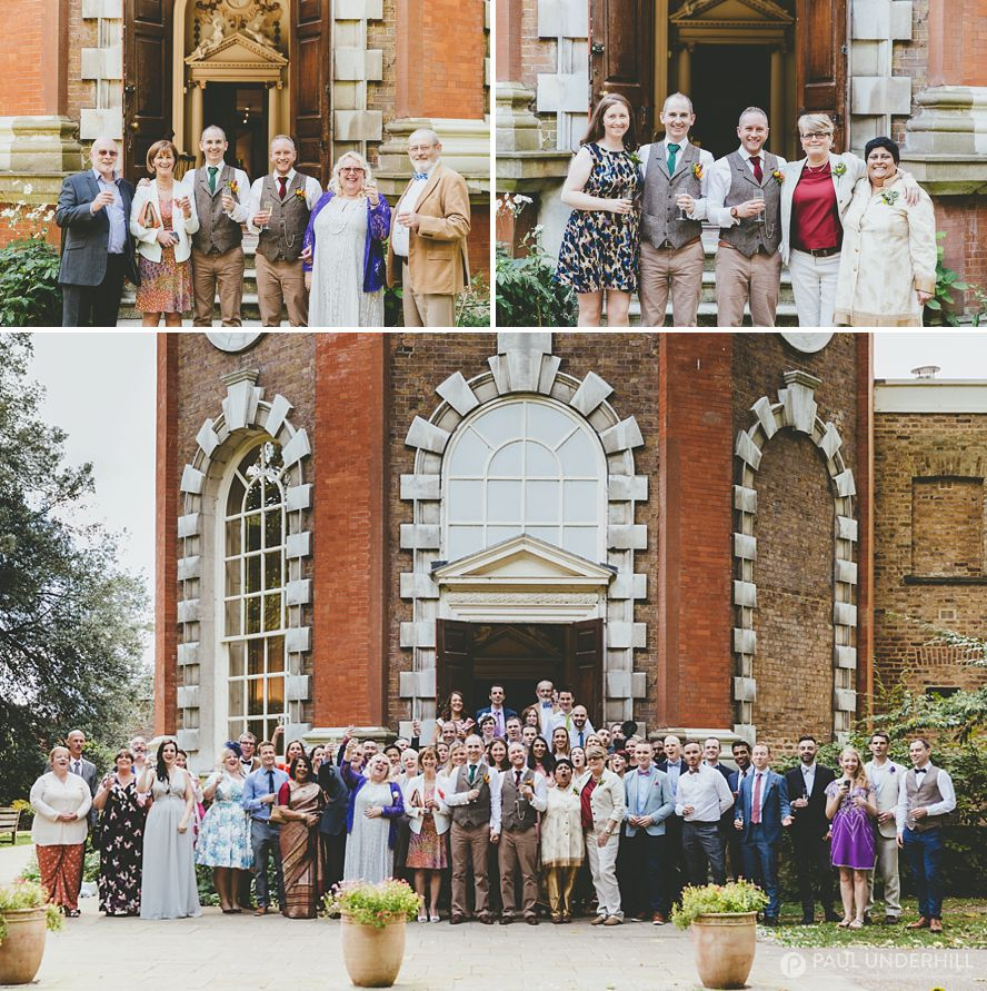 London wedding group portrait
