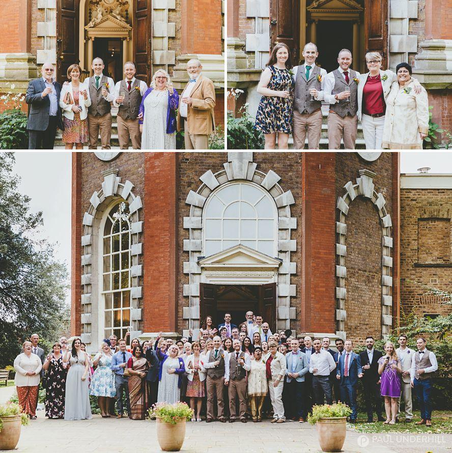 London wedding group portrait