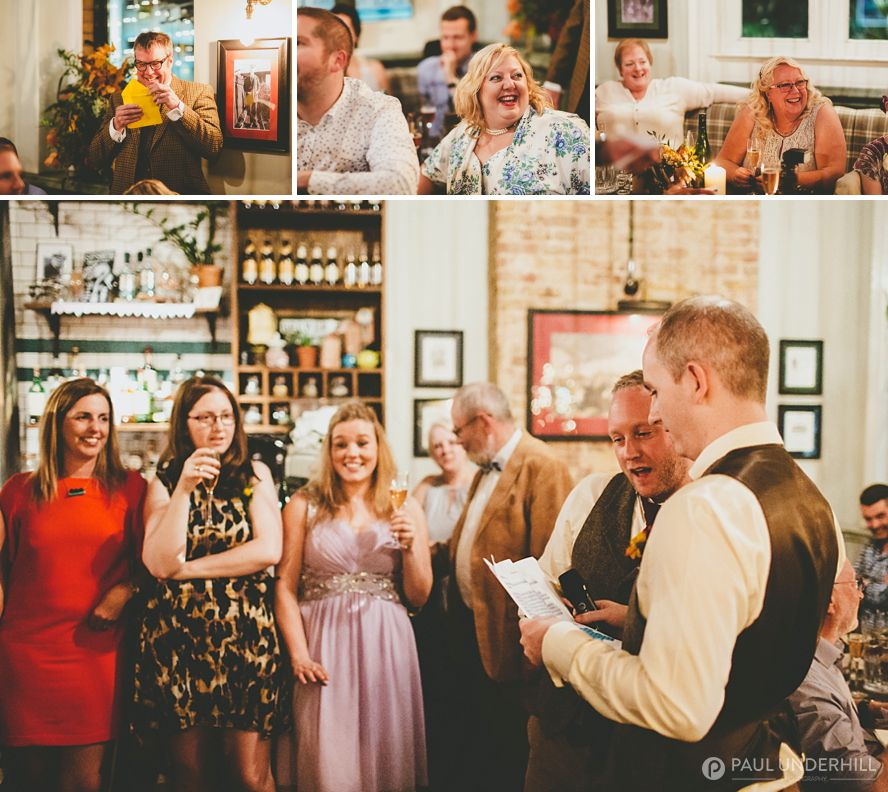 Tap on the line London wedding reception