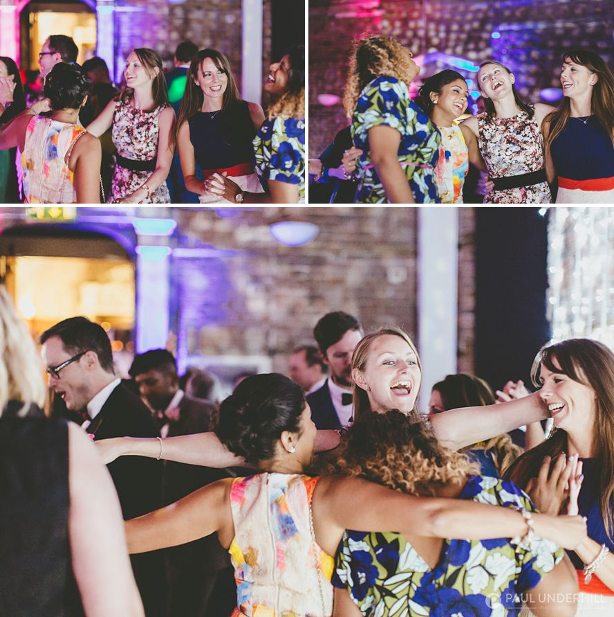 Wedding guests dancing at Highcliffe Castle