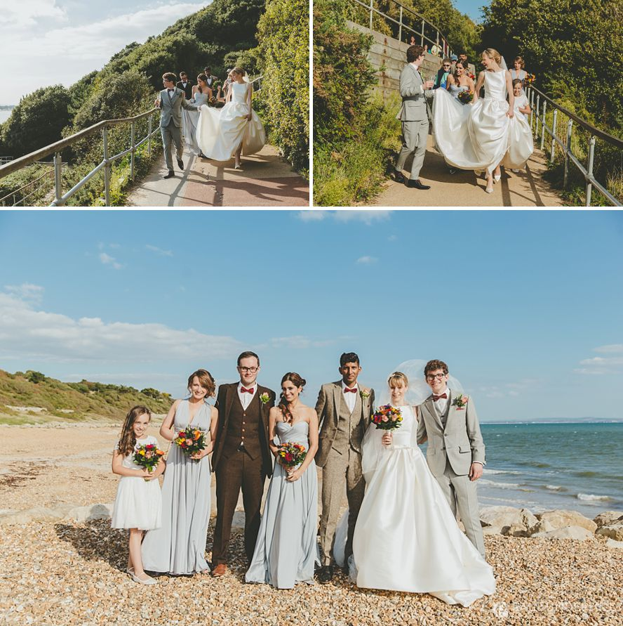 Wedding photography Highcliffe beach