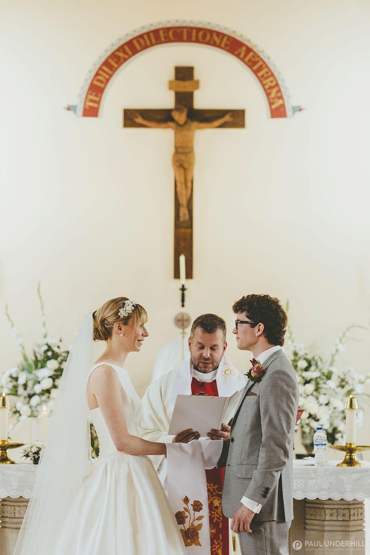 Wedding photography in Dorset church