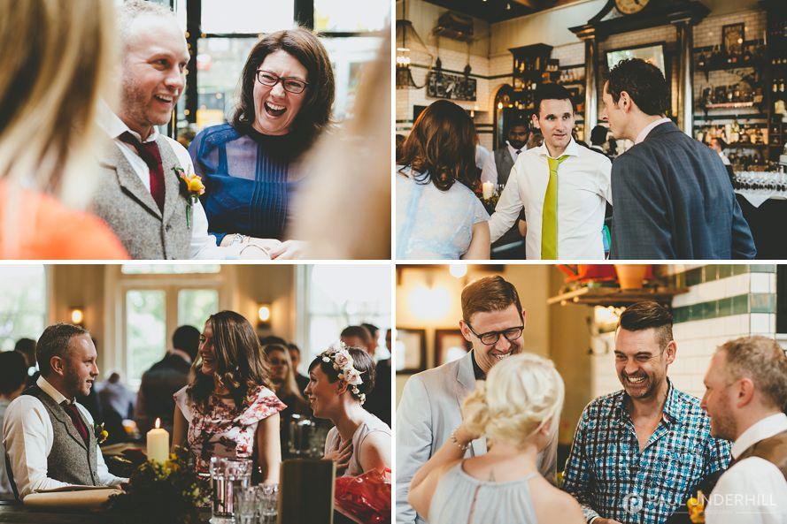 Wedding reception in London pub