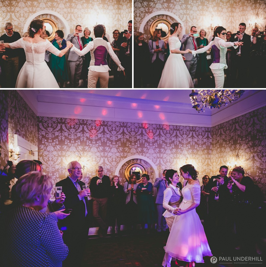Brides first dance gay wedding photography