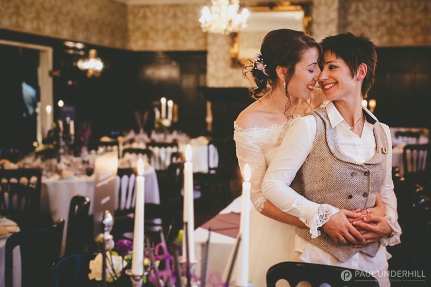 Brides portrait LGBT wedding photography