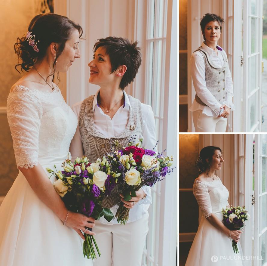 Brides portraits LGBT wedding