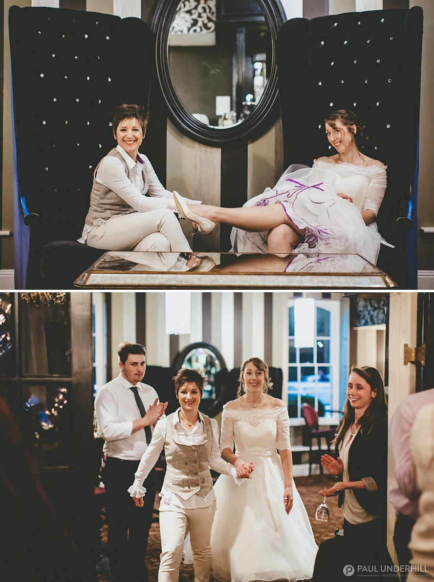 Brides portraits gay wedding