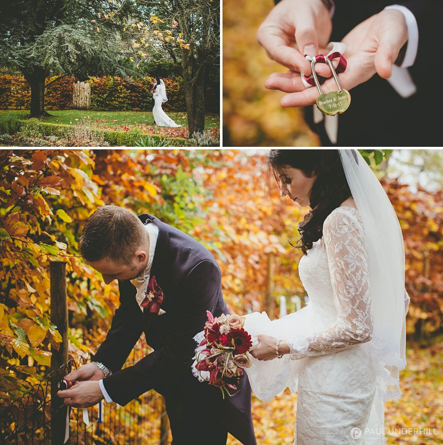 Careys Manor wedding lock