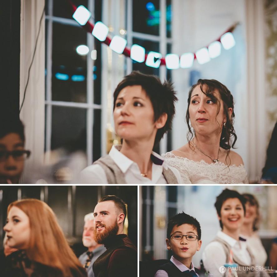 Documentary photography wedding speeches